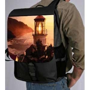 Lighthouse on hill Back Pack   School Bag Bag   Laptop Bag