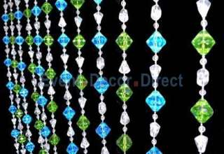 Non Iridescent Crystal Beaded Curtain   Event Decor Direct   North