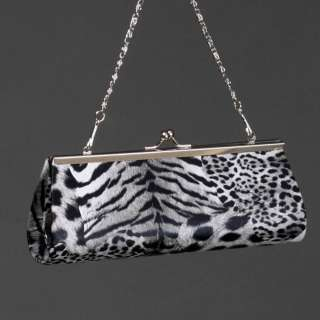 Leopard Animal Print Small Evening Clutch Women Purse