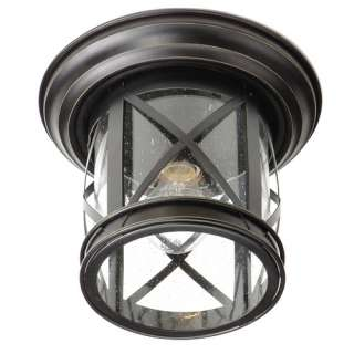 porch lights allen + roth Oil Rubbed Bronz Outdoor Ceiling Light