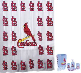 shower curtain set the st saint louis cardinals mlb baseball 7pc