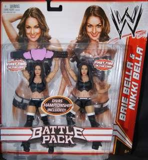 BELLA TWINS (NIKKI & BRIE)   WWE BATTLE PACKS 15 MATTEL TOY WRESTLING