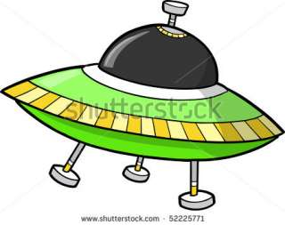 two flying an isolated hovering gray ufo mysterious spaceship orbiting