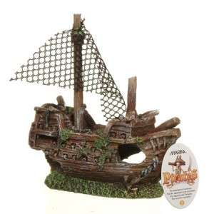 Hagen Marina Aquarium Ornament Sunken Pirate Galleon SM