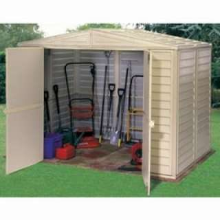 Buy Duramate Apex Roofed 8 x 8 PVC Clad Garden Shed   DIY Tools