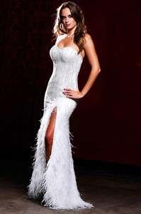 2011 Nina Canacci FEATHER Prom / Pageant Wedding Dress