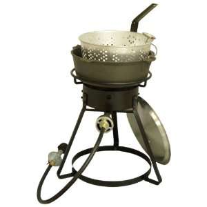 Propane Cooker with Cast Iron Pot Package: Patio, Lawn & Garden