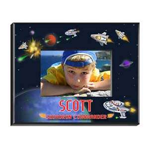 Photo Albums and Frames > PERSONALIZED SPACE BOYS PICTURE FRAME