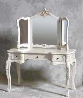 Top Quality Antique White Large Antique Dressing Table Set