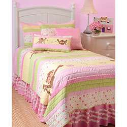 Precious Monkey Twin size 4 piece Quilt Set
