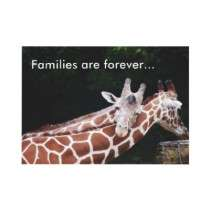 giraffes rubbing necks, Families are forever Custom Invite by