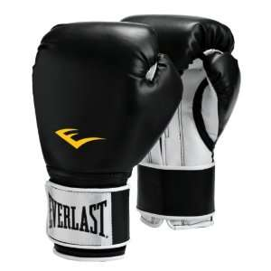 Pro Style Boxing Gloves Black 16oz Sold Per PR Sports