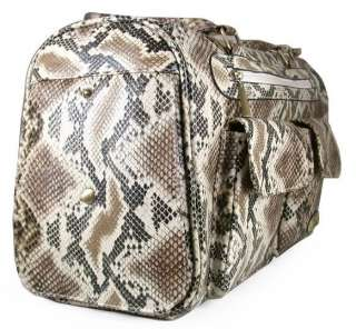 New Petcare Fashion Artificial Snake Skin Pet Dog Cat Tote Bag Carrier