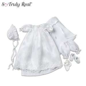 So Truly Real Baby Doll Clothing Christening Ensemble by The Ashton