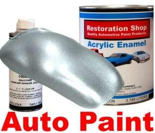Silver Metallic HIGH QUALITY ACRYLIC ENAMEL 1 Gallon Auto Paint Kit