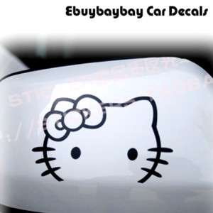 2pcs Hello Kitty Car Rear View Mirror Decal Stickers