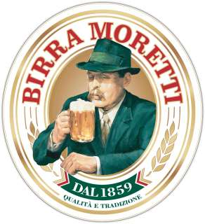 Birra Moretti Beer Brewery Alcohol Car Bumper Sticker Decal 4X5