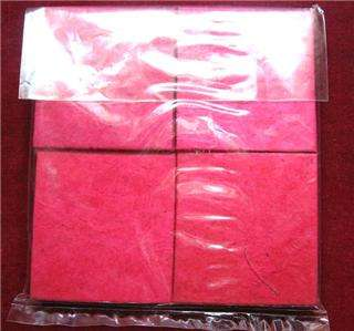 lot of 4 handmade rice paper Buddha pocket Note Book