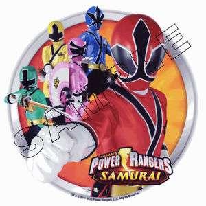 Power Rangers Samurai Edible Cake Topper Decor Image