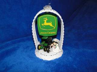 NEW JOHN DEERE WEDDING CAKE TOP WITH BRIDE & GROOM #3