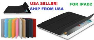Magnetic Smart Cover Slim PU Leather Case Wake Up Sleep For iPad2