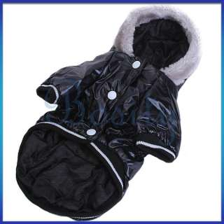 Pet Dog Cat Puppy Hoodie Winter Warm Puffy Coat Jacket Clothes Apparel