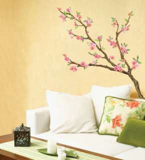 Cherry Blossom Flower Tree Wall Stickers Decor Decals
