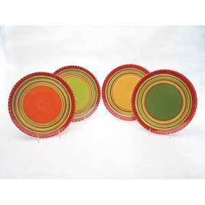 Certified International Hot Tamale Dinner Plates (Set of
