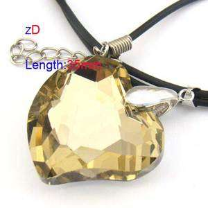 Heart Love Bead Crystal Glass Pendant Necklace Fashion Jewelry