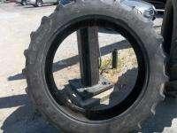 TWO USED 12.4x38 R 1 John Deere Tractor Tires (1 GOODYEAR & 1 TITAN