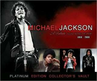 MICHAEL JACKSON TRIBUTE PLATINUM COLLECTORS VAULT BOOK