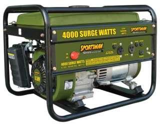 4000 Watt Portable Electric Generator   Gasoline 27077059892