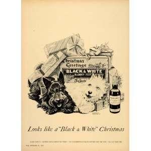 Ad Black White Scotch Whisky Dennis Morgan Scottie   Original Print Ad