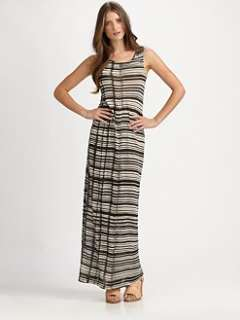 Acne   Colleen Striped Jersey Dress