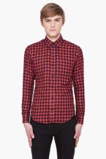 United Red & Black Plaid Shirt for men