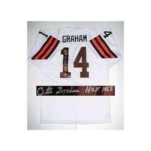 Otto Graham, Cleveland Browns HOF 1965 NFL Authentic Autographed