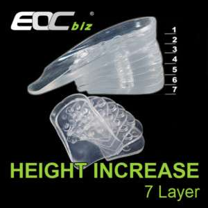 Height Increase Shoes Insole Elevator PAD 7Layers 4.6cm