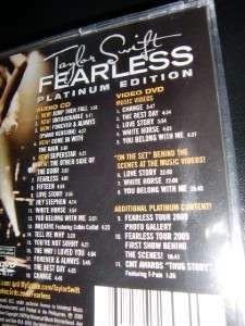 TAYLOR SWIFT FEARLESS CD + DVD PLATINUM ED PHILIPPINES