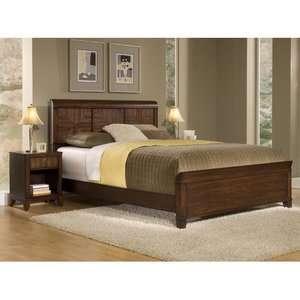 Home Styles Paris Queen Bedset & Nightstand Furniture
