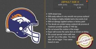 Denver Broncos Helmet NFL Football Logo Car Bumper Window Wall Sticker