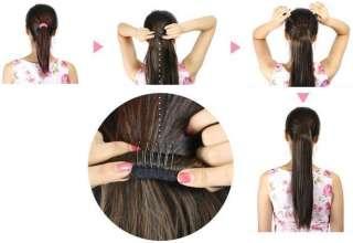 Korean Fashion Women Long Curly/Wave Wig Dark Brown Cosplay Hair Wigs