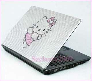 Hello Kitty Notebook Laptop Bling Crystal Sticker Skin