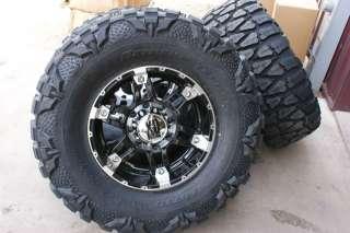 Wheels Rims Nitto Mud Grappler 33 Tires Chevy Silverado GMC