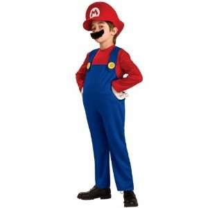 Super Mario Costume Deluxe Child Large 12 14 Super Mario