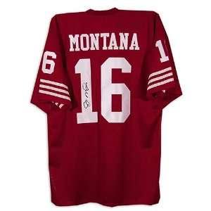 Joe Montana San Francisco 49ers Autographed Red Jersey