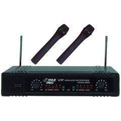 PYLE PRO Dual Channel UHF Wireless Microphone System WIRELESS MIC