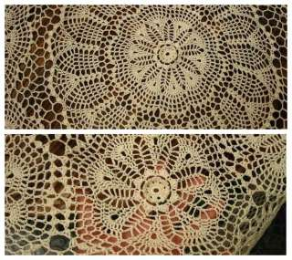 Free Thread Crochet Pattern Tablecloth | Learn to Crochet