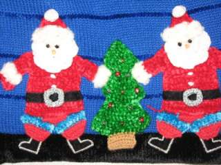 VTG JACK B QUICK SANTA CLAUS CHRISTMAS CARDIGAN SWEATER L