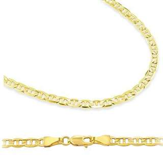 14k Solid Gold Gucci Mariner Chain Necklace 3.5mm 20