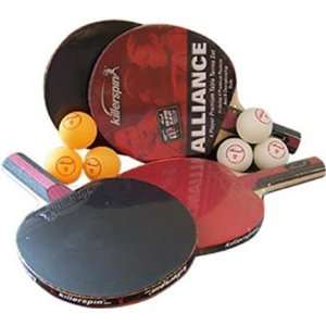 Killerspin Table Tennis Racket Alliance Set   4 Paddles 6